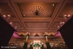 Marvelous Indian wedding ceremony venue decor.