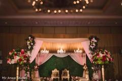 Dreamy Indian wedding ceremony mandap.