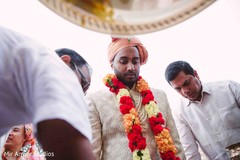 Indian groom at his baraat ritual celebration.