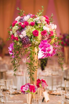 Amazing tall floral centerpiece.
