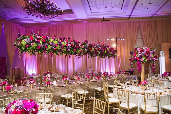 Exquisite Indian wedding table decor.