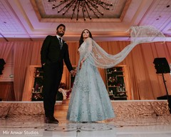 Indian couple at reception capture.