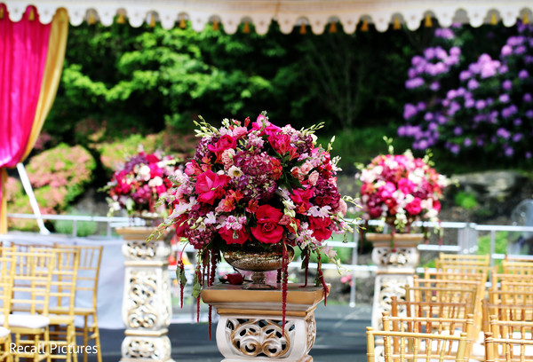 See this dreamy Indian wedding ceremony flowers decor.