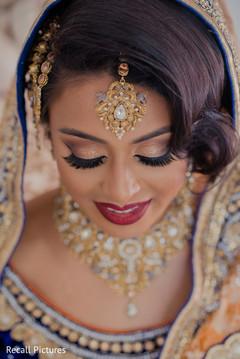 Stunning Indian bridal tikka closeup.