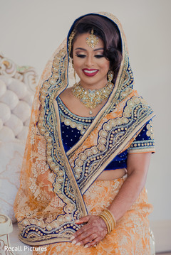 Magnificent Indian bridal reception look.