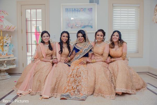 Maharani with bridesmaids portrait.