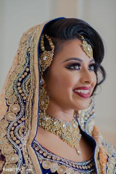 Impeccable Indian bridal makeup.