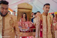 Impressive Indian bride entrance to ceremony.