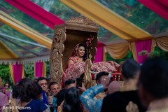 Impressive indian bride's doli entrance.