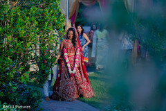 Indian bride and groom cherish moment.
