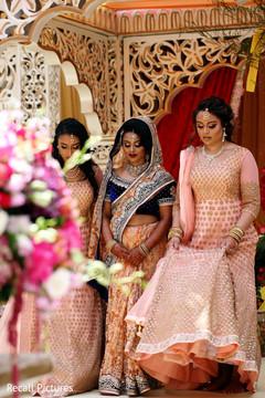 Indian bride and bridesmaids photo.