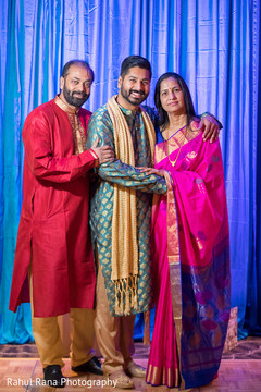 Indian groom with his parents