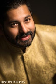 Portrait of Indian groom