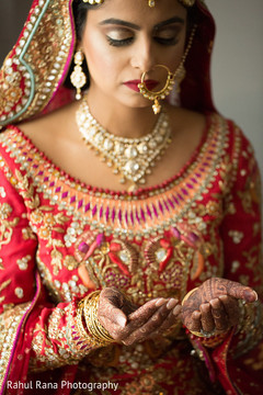 Portrait of dazzling Indian bride
