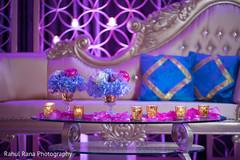 Floral arrangement details of reception