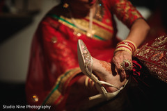 Incredible Indian bridal ceremony shoes.