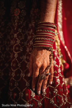 Marvelous Indian bridal choora capture.