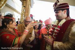 Indian groom at his baraat ritual capture.