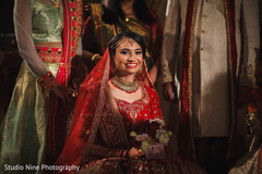 Marvelous Indian bridal ceremony look.
