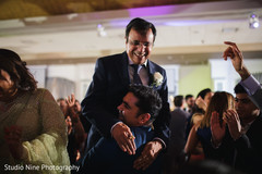 Upbeat Indian wedding reception dance.