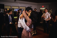 Sweet Indian bride and groom's dance.