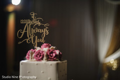 Lovely personalized Indian wedding cake topper.
