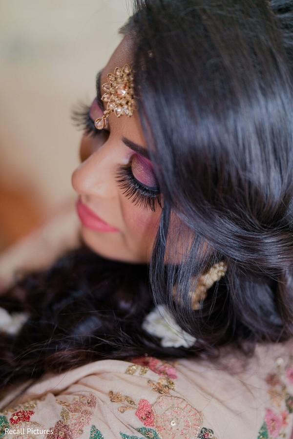 Flawless Indian bridal sangeet makeup.