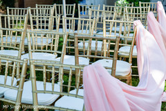 Chair setup for the ceremony