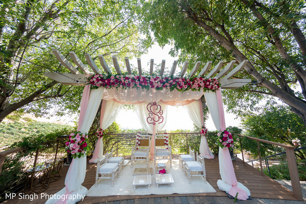 Mandap ready for the newlyweds