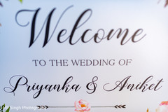 Welcome message from the newlyweds