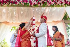 Maharani under the mandap with Raja