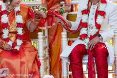 Indian groom and Maharani at the ceremony
