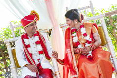 Indian groom staring at Maharani