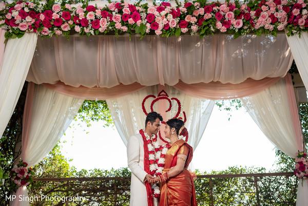 Lovely shot of Indian newlyweds