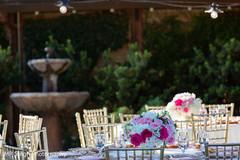 Floral arrangement design for the reception