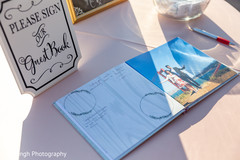 Details of the Indian wedding guest book
