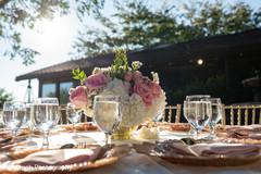 Beautiful floral arrangement for the reception
