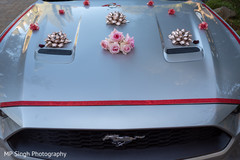 Elegant car used by the newlyweds