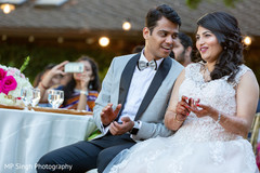 Indian newlyweds during the choreographies