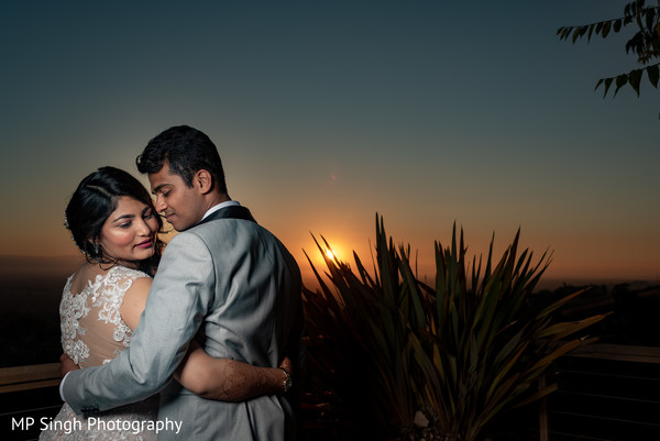 Indian couple and the sunset