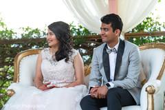 Indian bride listening to speeches