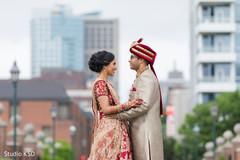 Romantic Indian couple's photo shoot.