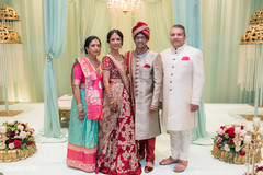 Indian couple with parents capture.