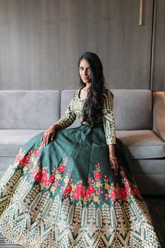 Enchanting maharani with her reception Anarkali.