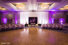 Marvelous Indian wedding reception dance floor .