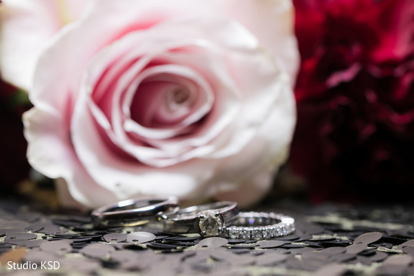 Stunning Indian couples wedding rings.