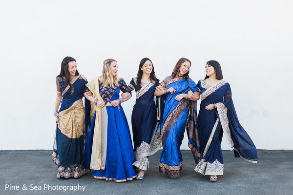 Lovely indian wedding bridesmaids