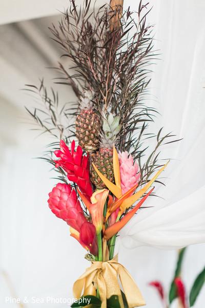 Unique indian wedding floral and fruit decor