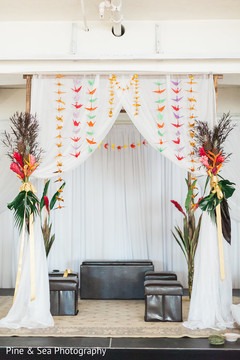 Lovely indian fusion wedding mandap