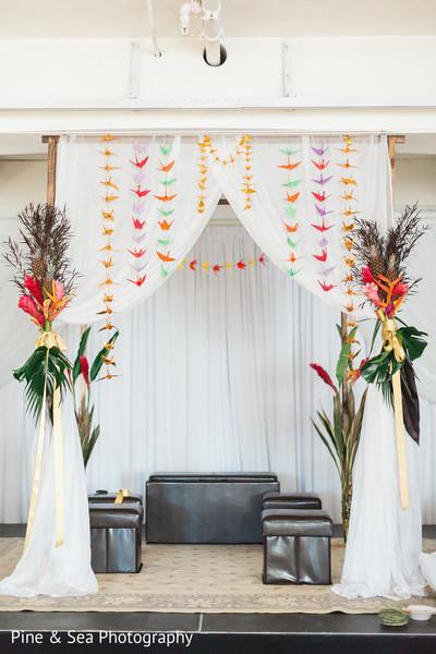 Lovely indian fusion wedding mandap
